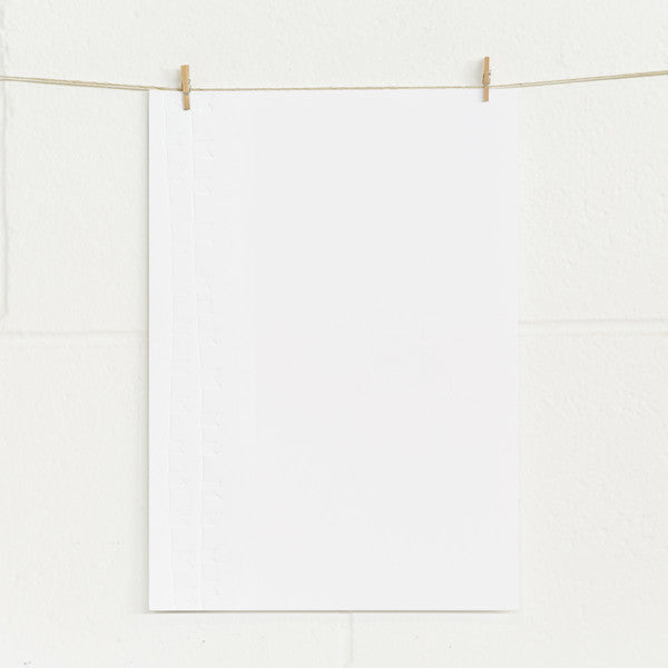 'Bunting' Embossed on White, PRINTme Paper, 10pk