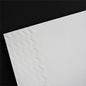 'Chevron' Embossed on White, PRINTme Paper, 10pk