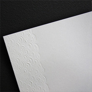 'Dreamy' Embossed on White, PRINTme Paper, 50pk