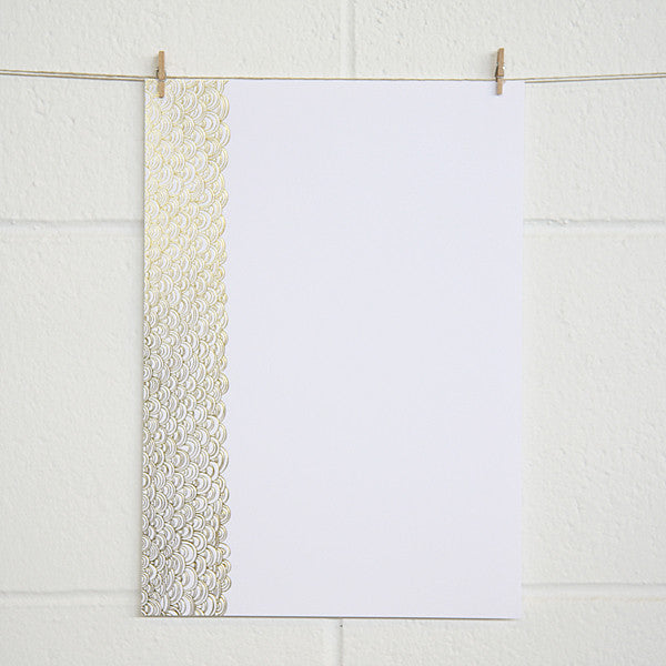 'Dreamy' Gold Foil on White, PRINTme Paper, 10pk