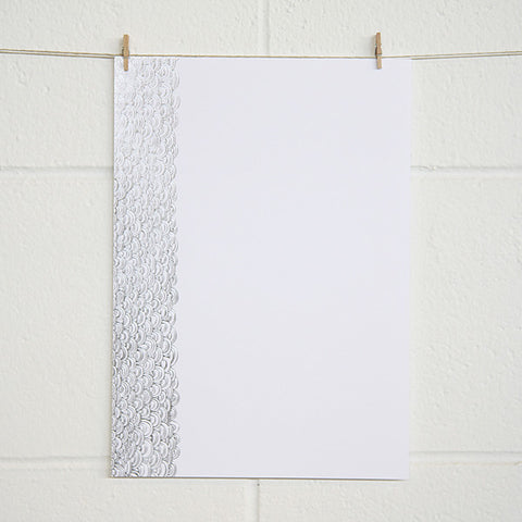 'Dreamy' Silver Foil on White, PRINTme Paper, 10pk