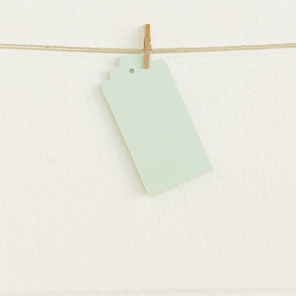 Deco Tags, Mint, 20pk