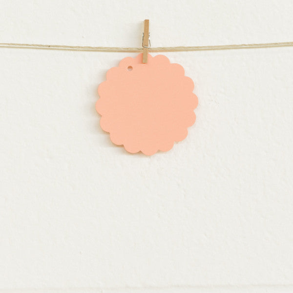 Scalloped Tags, Melon, 20pk