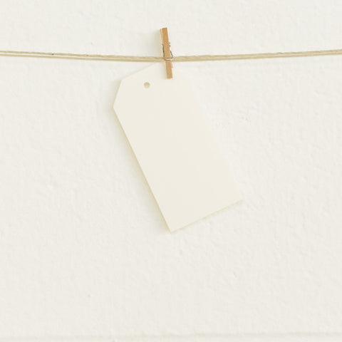 Shipping Tags, Cream, 20pk