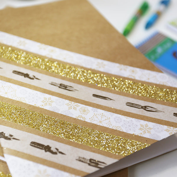 Gold Glitter Tape, 15mm x 5 metres