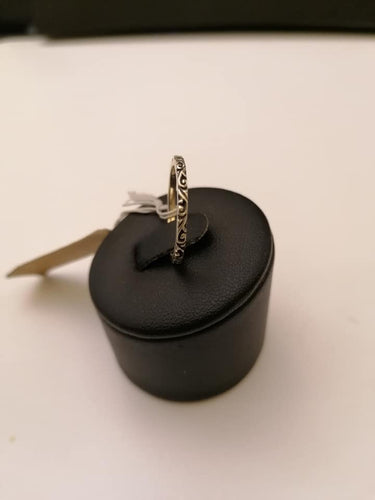 Anello in argento 925 ad incisione Babline