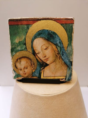Affresco in pictografia Madonna cm 6x6