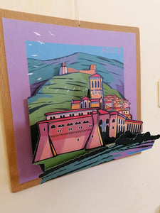 Doni di Carta quadro pop-up Assisi