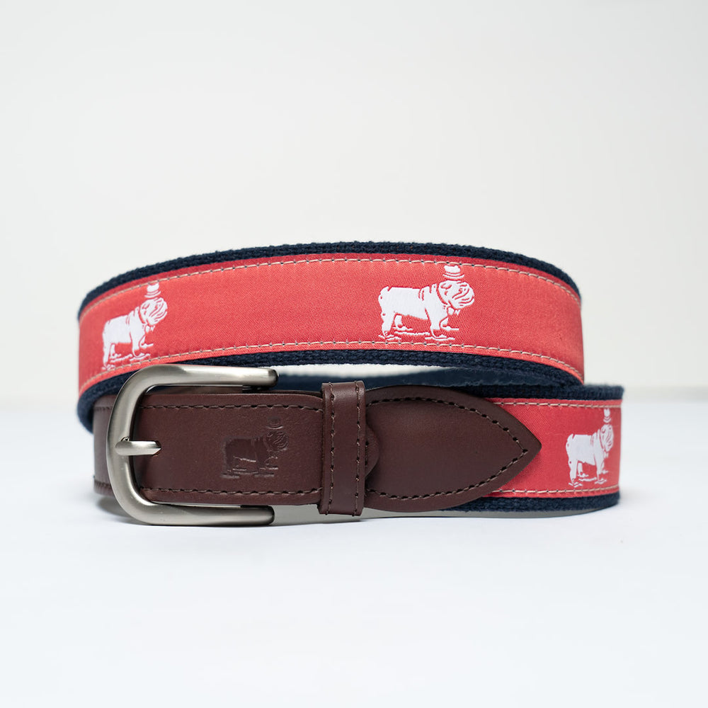 Signature Logo Ribbon Belt (Nantucket Red)