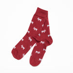 Signature Logo Socks (Burgundy)