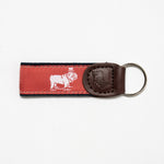 Signature Ribbon Key Fob (Nantucket Red)