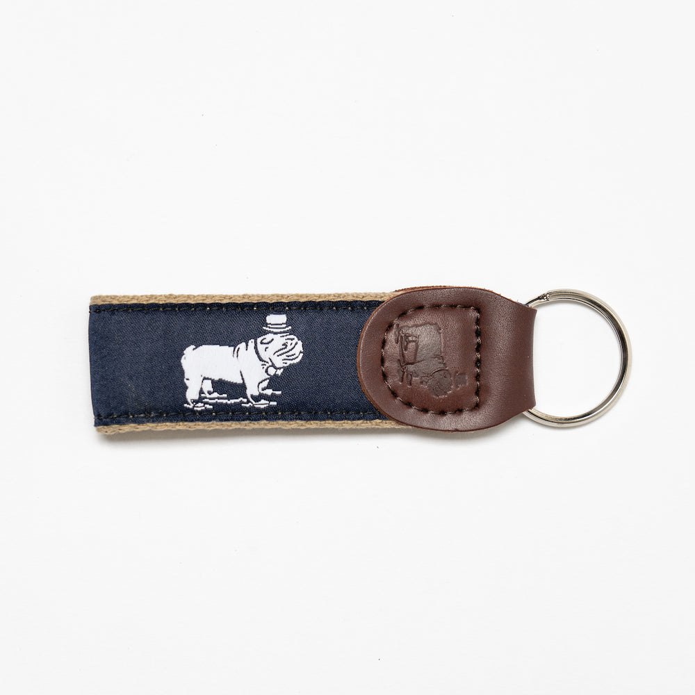 Signature Ribbon Key Fob (Navy)