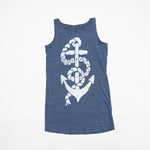 Anchor Tank Dress (Heather Light Blue)