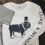 Big Duke Long Sleeve Tee (White)