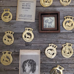 German Shepard Horse Brass