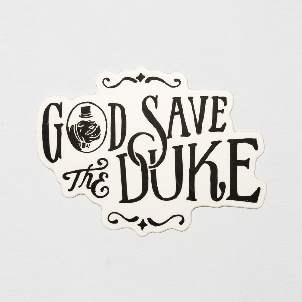 God Save Duke Sticker