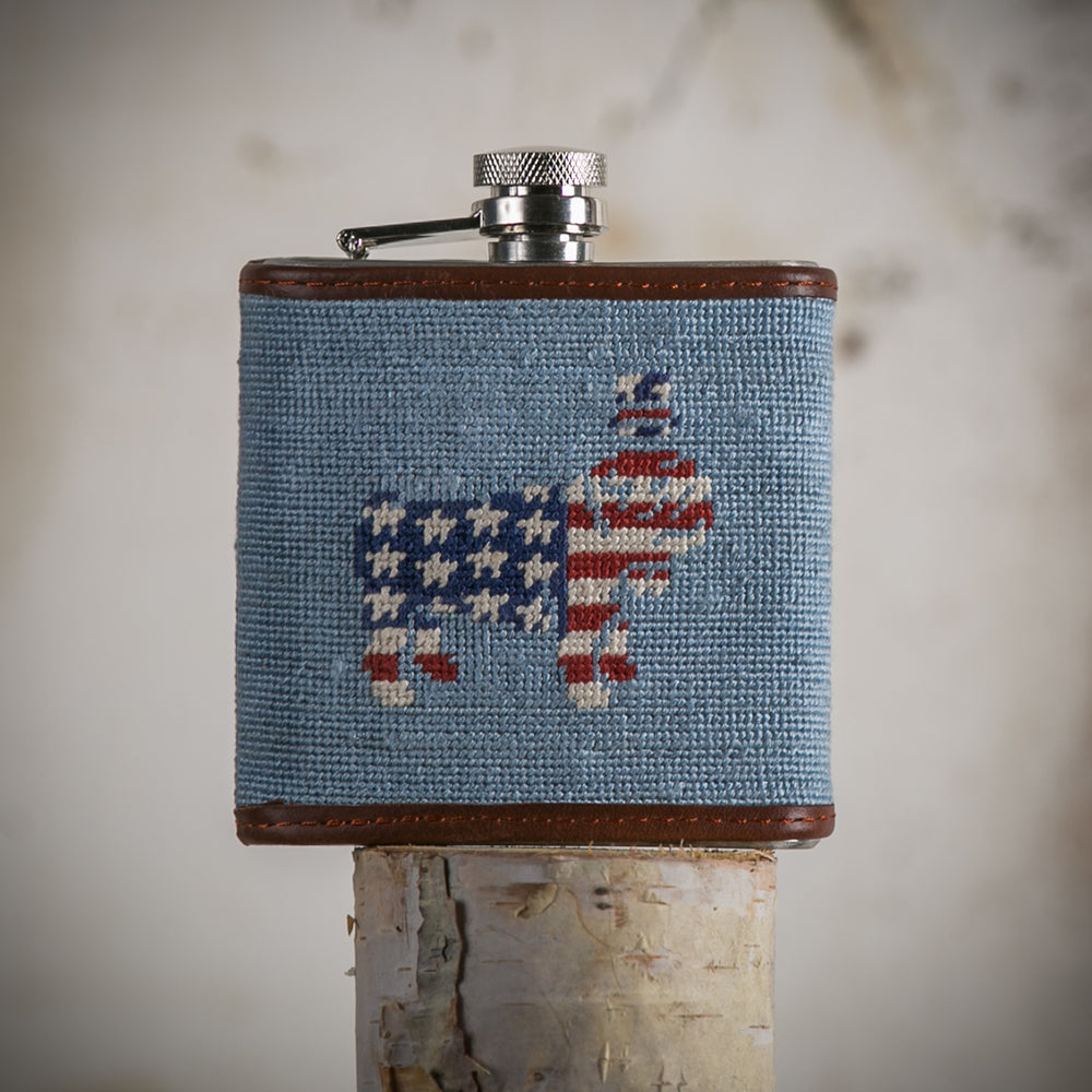 USA Duke Needlepoint Flask