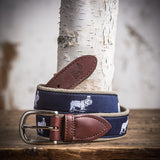 Signature Logo Ribbon Belt (Navy)