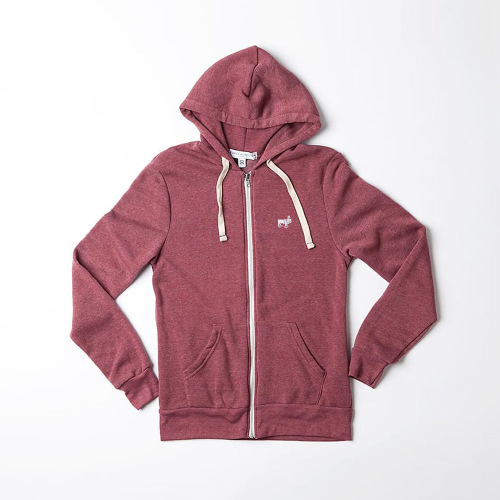 Unisex Logo Embroidery Hoodie (Eco-Cranberry)