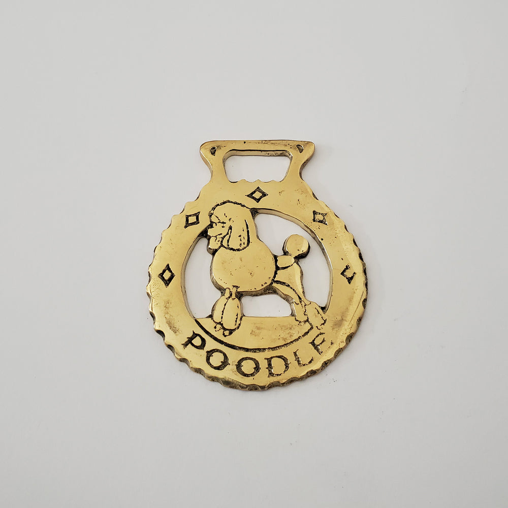 Poodle Horse Brass