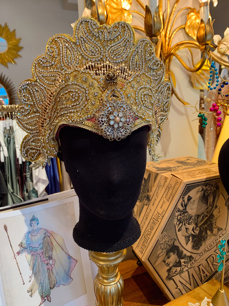 Golden lotus headpiece