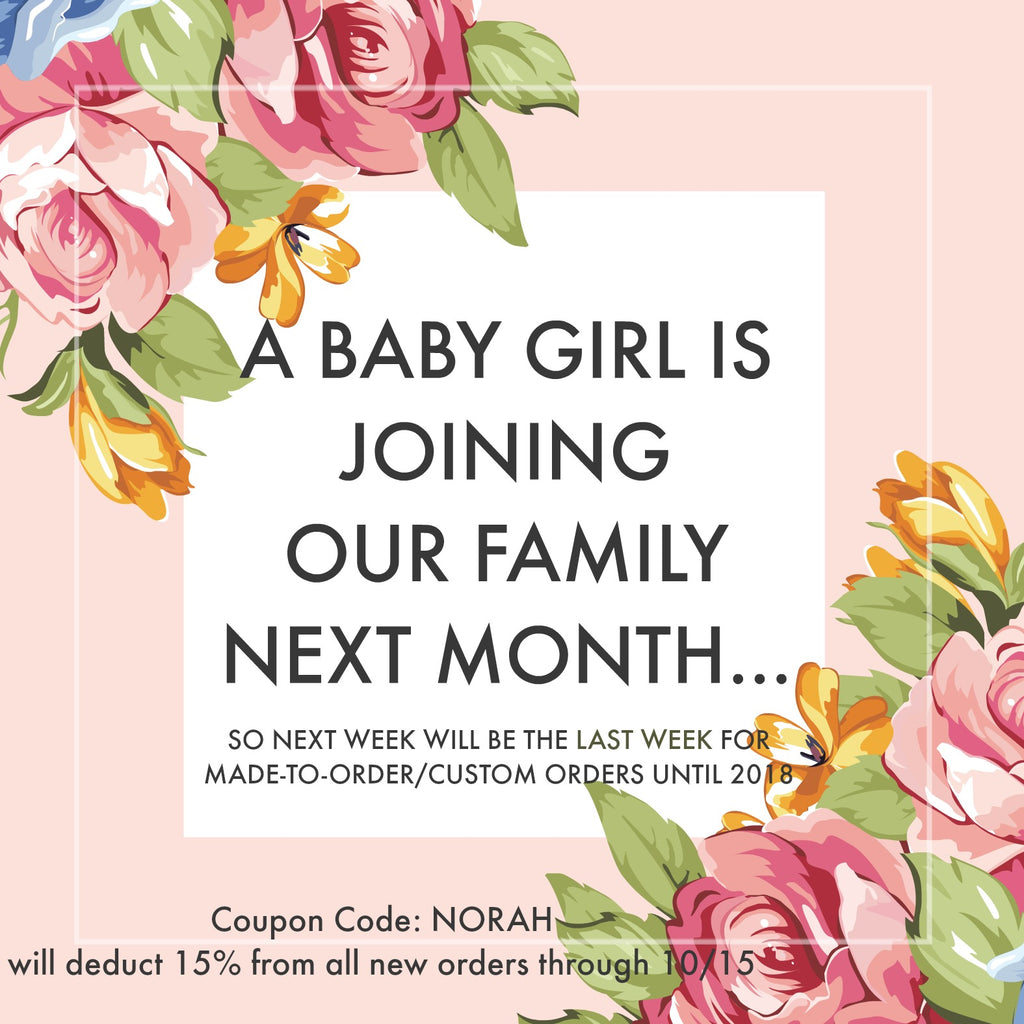 We're Making Way for Our Newest Family Member - So don't wait to order + a Coupon Code :)