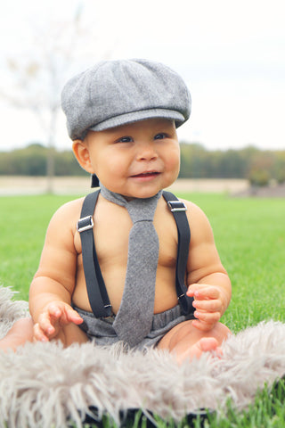 Gray Frederick Newsboy Set
