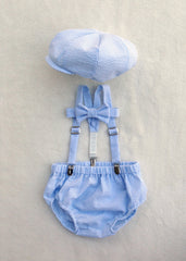 Baby Blue Seersucker Newsboy Set