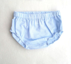 Baby Blue Seersucker Diaper Cover