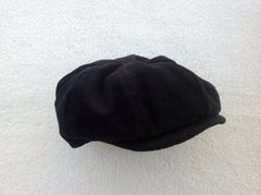 Newsboy Hat in Black Corduroy