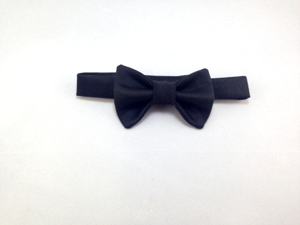 Black Organic Cotton Bow Tie