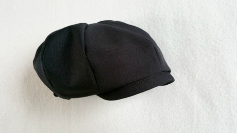 Newsboy Hat in Black Suiting