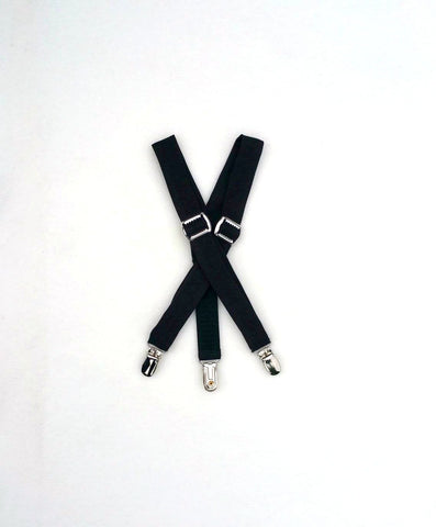 Black Suiting Suspenders