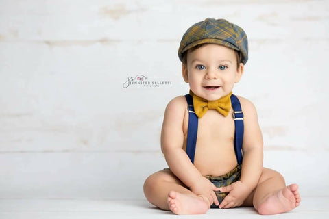 Plaid and Corduroy Newsboy Set