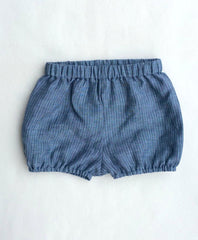 Blue Pinstripe Linen Shorties