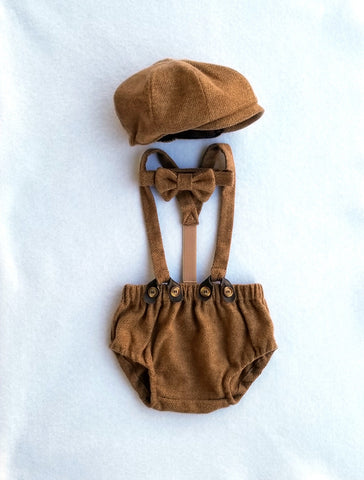 Brown Cotton Tweed Arthur Set