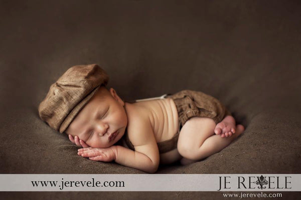 Arthur Newsboy Set in Brown Linen