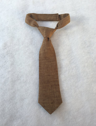 Brown Linen Necktie