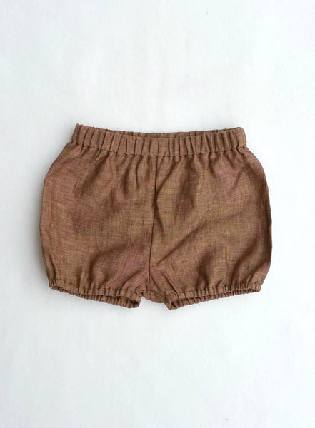Brown Linen Shorties