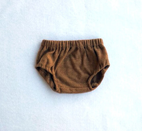 Brown Cotton Tweed Diaper Cover