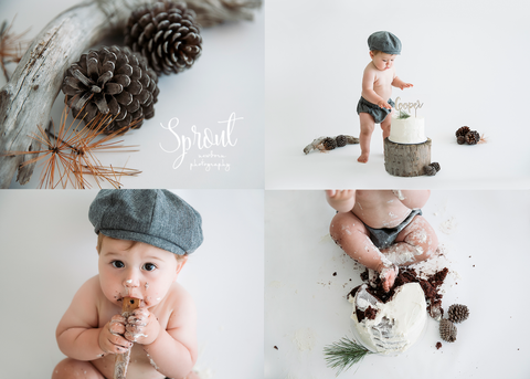 Newsboy Hat and Diaper Cover in Charcoal Herringbone