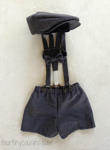 Henry Newsboy Set in Charcoal