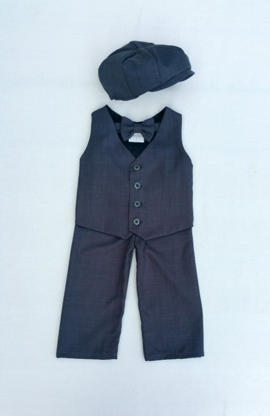 Wiley Set in Charcoal Gray Suiting