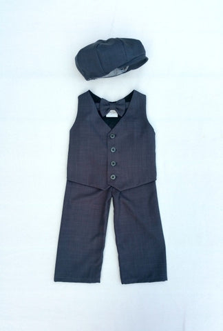 Ready to Ship Wiley Set in Charcoal Gray Suiting