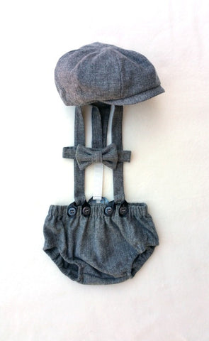Ready to Ship Gray Arthur Newsboy Set