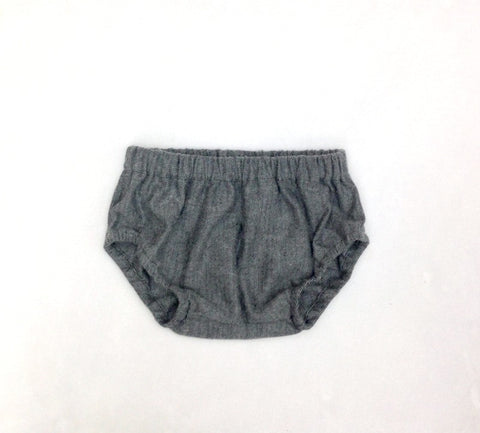 Ready to Ship Gray Herringbone Diaper Cover