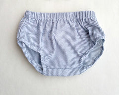 Gray Seersucker Diaper Cover