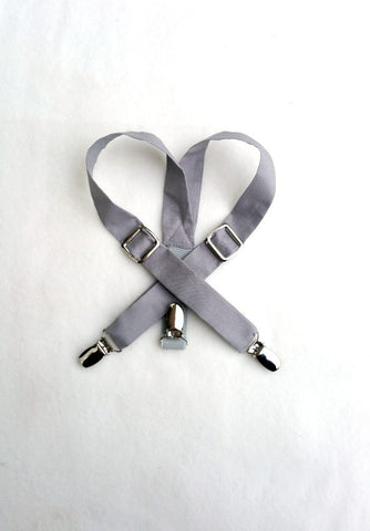 Gray Organic Cotton Suspenders