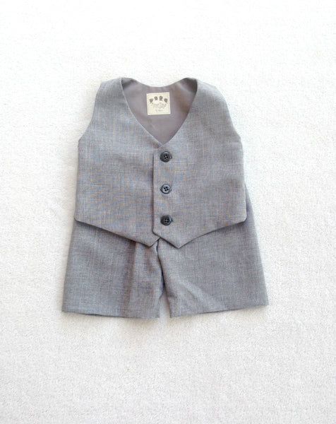 Vest and Pants in Heather Suiting