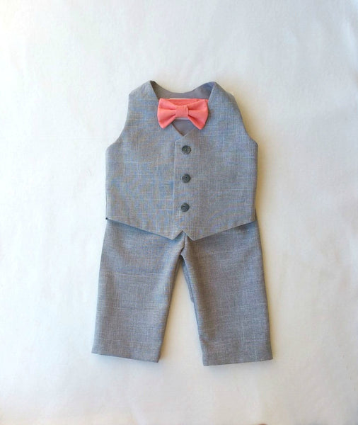 Heather Vest with Bow Tie in shade of your choice and Shorts or Pants